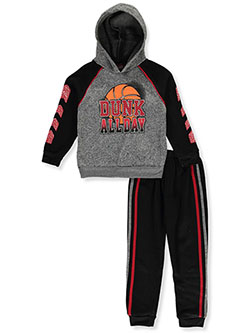 Dunk All Day 2-Piece Sweatsuit Outfit by Quad Seven in Heather gray/multi
