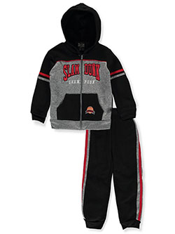 Dunk Champion 2-Piece Sweatsuit Outfit by Quad Seven in Black multi
