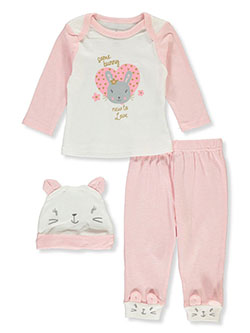 Bunny 3-Piece Layette Set by Duck Duck Goose in Multi