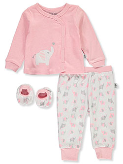 Elephant Balloon 3-Piece Layette Set by Duck Duck Goose in Pink/multi