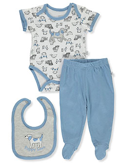 Puppy Love 3-Piece Layette Set by Little Joy in Multi