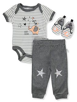 Good Friends 3-Piece Layette Set by Duck Duck Goose in Multi, Infants