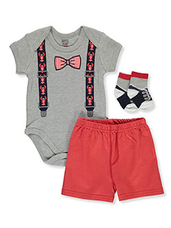 Baby Boys' Lobster 3-Piece Layette Set by Dapper Dude in Multi, Infants