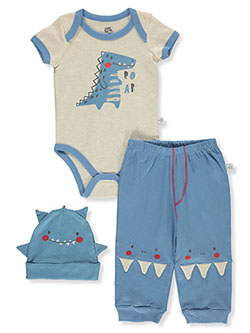 Baby Boys' Roar 3-Piece Layette Set by Little Joy in Multi, Infants