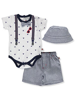 Sailboat 3-Piece Layette Set by Dapper Dude in White/multi