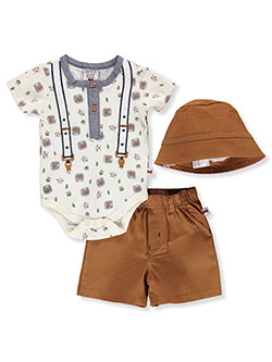Sailboat 3-Piece Layette Set by Dapper Dude in Cream/multi