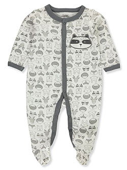 Forest Thermal Footed Coverall by Duck Duck Goose in blue/multi and gray multi
