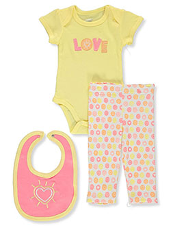 Baby Girls' Love 3-Piece Layette Set by Little Joy in Multi