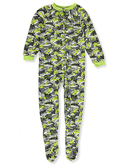 Boys' Dino 1-Piece Footed Pajamas by Mac Henry in lime/multi and turquoise/multi - Boys Fashion