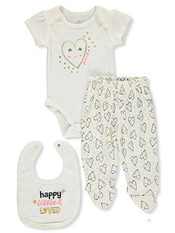 Loved 3-Piece Layette Set Outfit by Little Joy in Multi