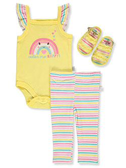 Happy 3-Piece Layette Set Outfit by Duck Duck Goose in Multi