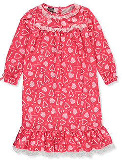 Girls' Candy Cane Nightgown by PJ's & Presents in Pink/multi