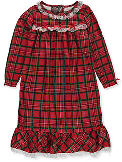 Girls' Holiday Plaid Nightgown by PJ's & Presents in Red/multi