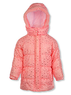 Metallic Star Insulated Parka by Real Love in Pink, Infants