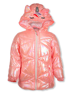Unicorn Shine Insulated Parka by Real Love in Coral/multi, Infants