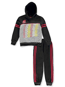 Mad Game Boys' Legend 2-Piece Sweatsuit Outfit by Quad Seven in black multi and red/multi, Boys Fashion