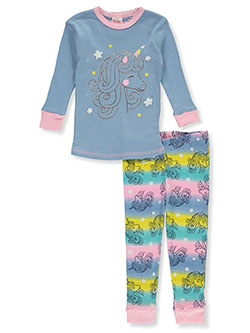 Baby Girls' Unicorn 2-Piece Pajamas by Mon Petit in Blue/multi