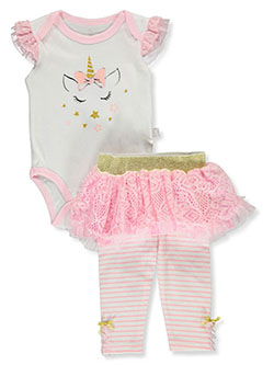 Lace Tutu 2-Piece Leggings Set Outfit by Duck Duck Goose in Pink/multi