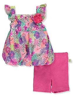 Floral 2-Piece Shorts Set Outfit by Duck Duck Goose in Multi