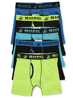Boys' 5-Pack Boxer Briefs by Beverly Hills Polo Club in Multi