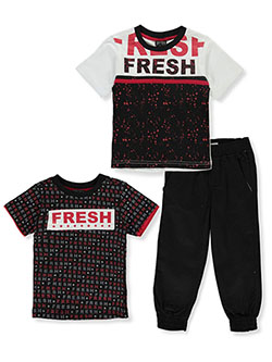 Boys' Fresh 3-Piece Mix-And-Match Set by Quad Seven in red/multi and royal/multi
