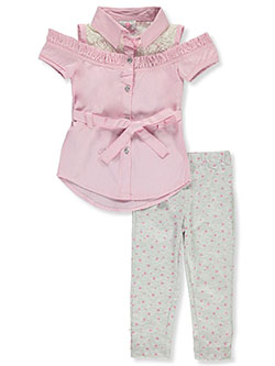 Baby Girls' 2-Piece Leggings Set Outfit by Real Love in Pink/multi