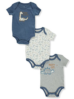 Boys' Dinosaur 3-Pack Bodysuits by Duck Duck Goose in Multi, Infants