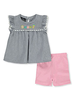 2-Piece Bike Shorts Set Outfit by My Destiny in navy/multi and pink/multi