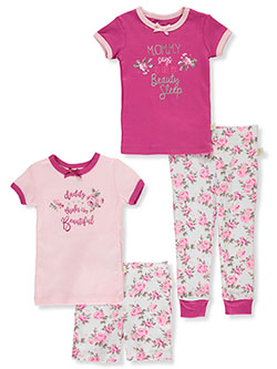 Floral Beauty 4-Piece Mix-And-Match Set Outfit by Duck Duck Goose in Pink/multi