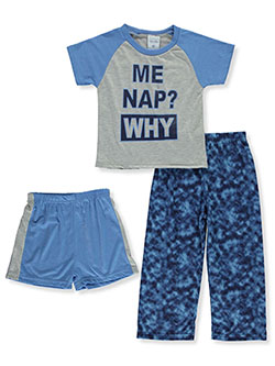 Boys' 3-Piece Pajamas by Mon Petit in blue/multi and red/multi