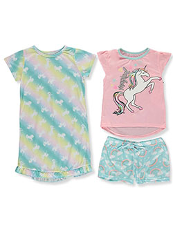 Magical Unicorn 3-Piece Nightgown Pajamas Set by Delia's Girl in Pink/multi, Girls Fashion