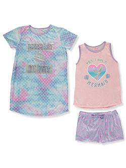 Mermaid 3-Piece Nightgown Pajamas Set by Delia's Girl in Purple/multi, Girls Fashion
