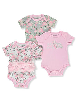 Baby Girls' 3-Pack Bodysuits by Duck Duck Goose in Pink/multi, Infants