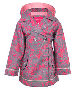 London Fog Girls' Hooded Raincoat - CookiesKids.com