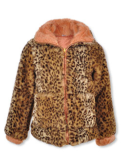 Trimmed Leopard Reversible Jacket by Jessica Simpson in Leopard