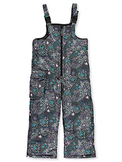Starry Single Patch Insulated Bib Snowpants by London Fog in Gray/black