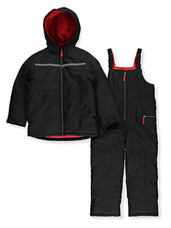 Boys' Reflective Stripe 2-Piece Snowsuit by Carter's in Black, Boys Fashion