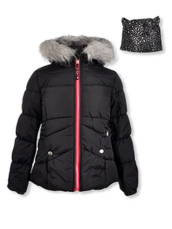 Insulated Jacket & Headband Set by Jessica Simpson in black and red