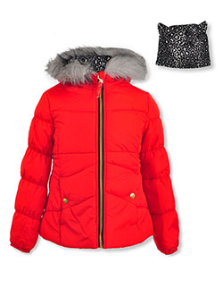 Insulated Jacket & Headband Set by Jessica Simpson in Red