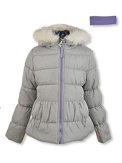Insulated Jacket & Headband Set by Jessica Simpson in gray and lavender
