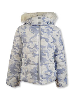 Girls' Camouflage Insulated Jacket by Jessica Simpson in Print