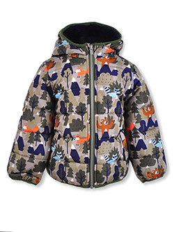 Boys' Forest Animals Puffer Jacket by Carter's in Gray