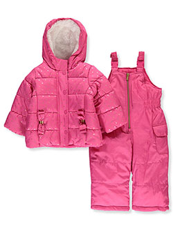 Baby Girls' Dotted Foil 2-Piece Snowsuit by Carter's in Fuchsia