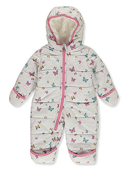 Baby Girls' Floral Insulated Pram Suit by OshKosh in Cream, Infants