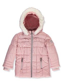 Ruched Panel Insulated Parka by London Fog in Pink