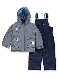 Carter's Boys' Bear 2-Piece Snowsuit by London Fog in Gray