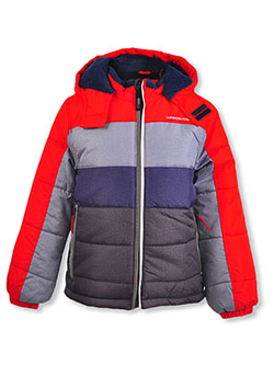 Boys' Paneled Insulated Jacket by London Fog in Red
