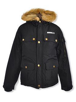 Boys' Snap Pocket Insulated Jacket by London Fog in black, olive and red