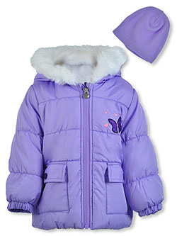 Butterfly Insulated Jacket with Beanie by London Fog in Purple