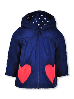 Baby Girls' Heart Pocket Hooded Jacket by Carter's in Navy - $19.99